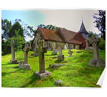 The Church of St.Nicholas Pyford - HDR  Poster