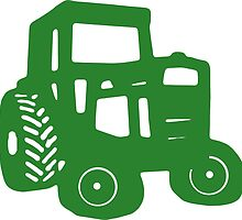Green Tractor Graphic by Edward Fielding