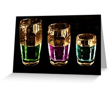 Colors Drink Greeting Card