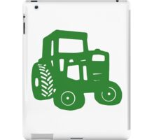 Green Tractor Graphic iPad Case/Skin