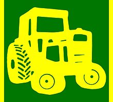 Yellow and Green Tractor Emblem Design by Edward Fielding