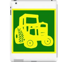 Yellow and Green Tractor Emblem Design iPad Case/Skin