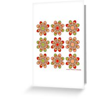 Strawberry Foot Flowers Greeting Card