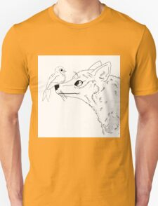 Swallow and Gray Fox Inked Unisex T-Shirt