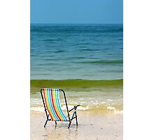 Beach chair  Photographic Print