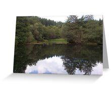 Pond Walk - Peebles Greeting Card