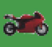 Pixel Ducati Motorbike Thing Kids Tee