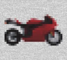 Pixel Ducati Motorbike Thing Kids Clothes