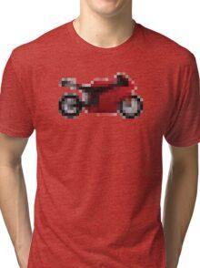 Pixel Ducati Motorbike Thing Tri-blend T-Shirt