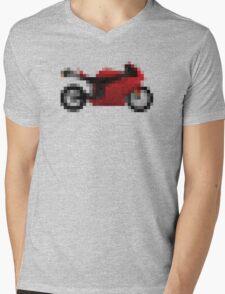 Pixel Ducati Motorbike Thing Mens V-Neck T-Shirt