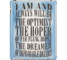 The Dreamer of Improbable Dreams iPad Case/Skin