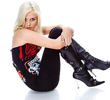 Natasha in boots by Larry Varley