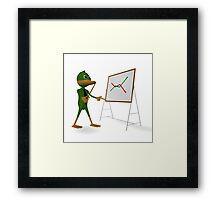 Duck and economic graph Framed Print