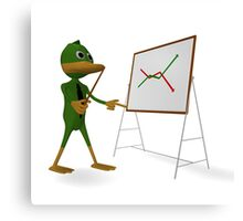 Duck and economic graph Canvas Print