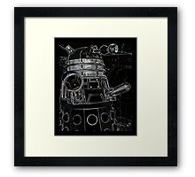 Black Dalek Framed Print