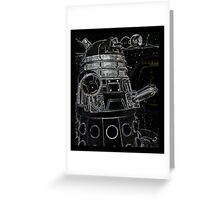 Black Dalek Greeting Card