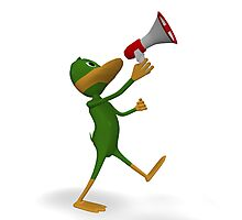 duck with megaphone Photographic Print