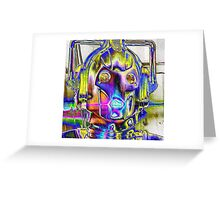 Cyberman White Greeting Card