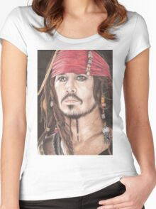 Captain Jack Sparrow Women's Fitted Scoop T-Shirt