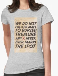 We Do Not Follow Maps Womens Fitted T-Shirt