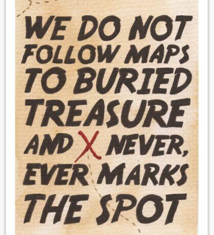 We Do Not Follow Maps Sticker