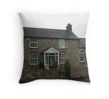 Penny Pot Cottage, Dyserth Wales Throw Pillow