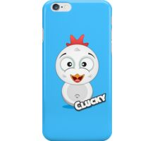 Farm Animal Fun Games - Clucky - Blue iPhone Case/Skin