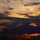 Safe Evening Sky on the Way Home... by Larry Llewellyn