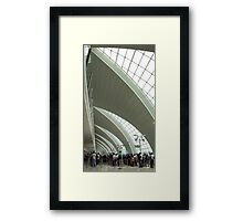 Queuing with Jonas Framed Print