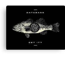 Databass! Get it? Canvas Print