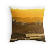 Slipped in the morning backlight Throw Pillow