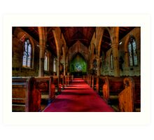 Rock Of Ages - The Garrison Church c.1843, The Rocks Sydney- The HDR Experience Art Print