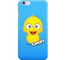 Farm Animal Fun Games - Chicky - Blue Gradient iPhone Case/Skin