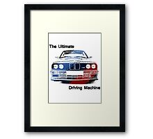 bmw the ultimate driving machine Framed Print