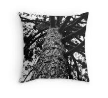Monochrome Tree Throw Pillow