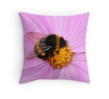 The Working Bumblebee Throw Pillow