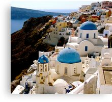 INVITED SANTORINI Canvas Print