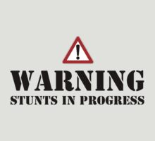 Warning - stunts in progress by Martin Pot