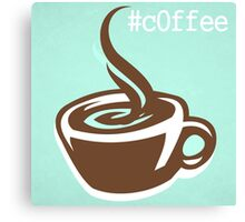 Coffee CSS Hex Word Print for cafe or home, Vector Illustration Canvas Print