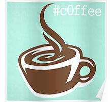 Coffee CSS Hex Word Print for cafe or home, Vector Illustration Poster
