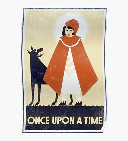 One Upon A Time Vintage Poster