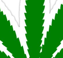 Funny leaf. Sticker
