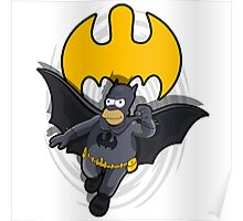 bat-homer in action: the Simpsons superheroes Poster