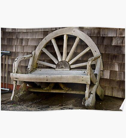 Wagon Wheel Bench Poster