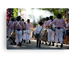 Fifes And Drummer Boy Canvas Print