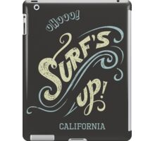 Surf's Up hand-lettering iPad Case/Skin