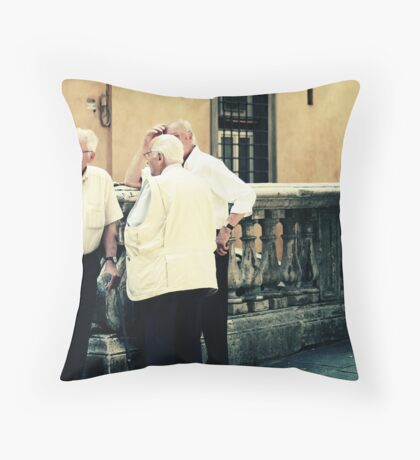 Curious children standing before the great mystery into which they were born Throw Pillow