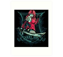 Derby Girl Art Print