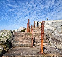 Steps Up From The Sea - Lyme Regis by Susie Peek