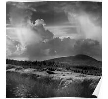 Scattering clouds - photograph Poster